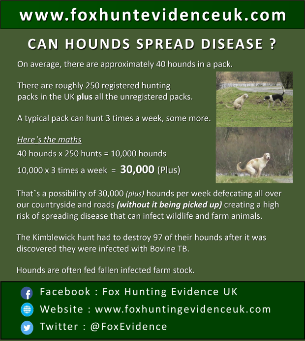 can hounds spread disease