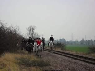 hunt on railway line