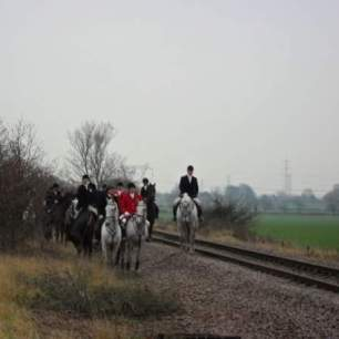 hunt on railway line