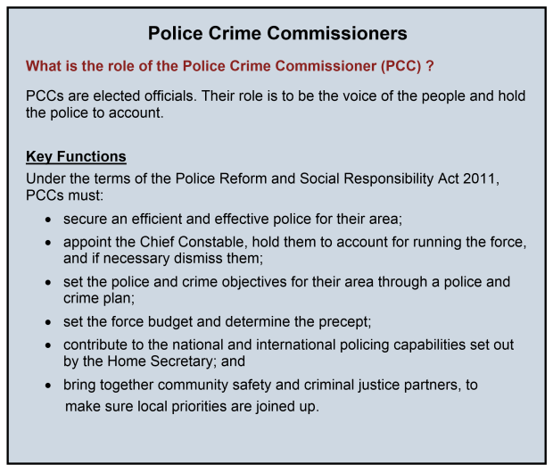 Police Crime Commissioners