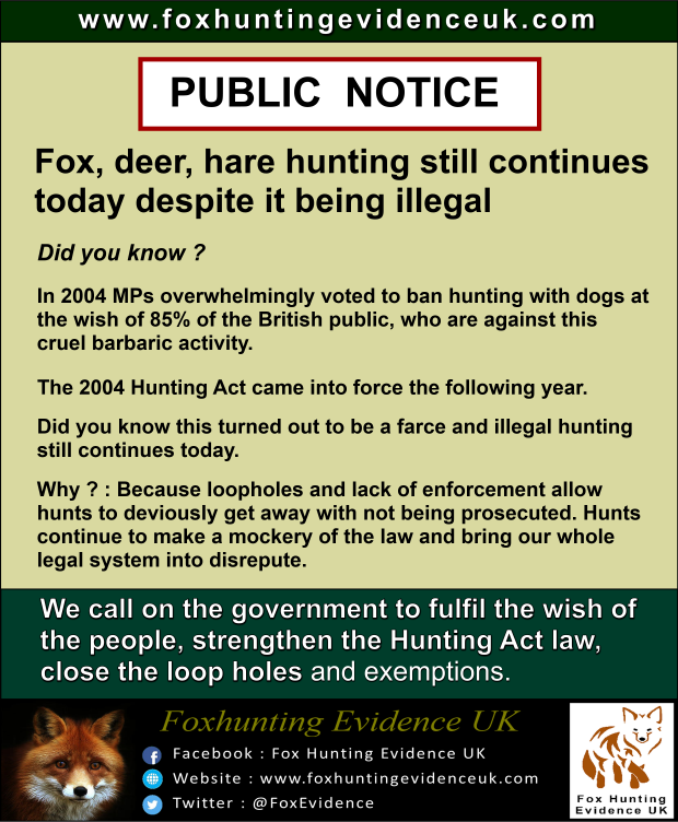 Public Notice - Hunting continues