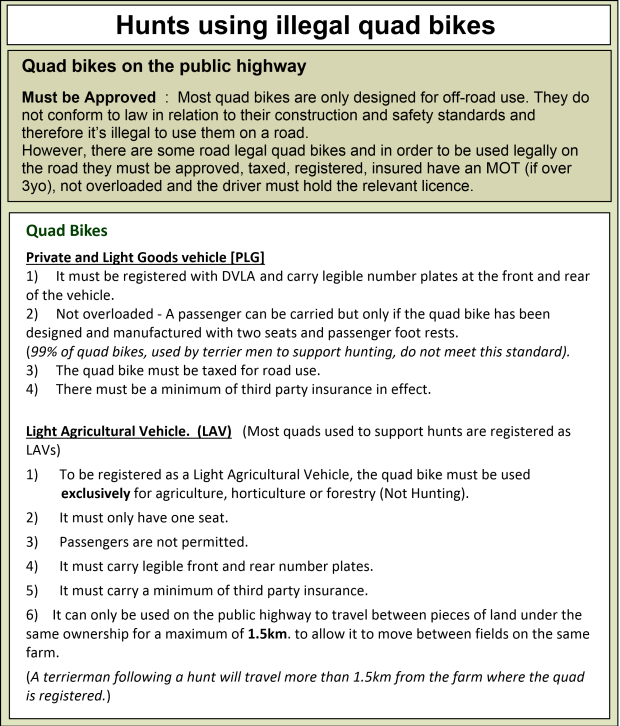 Quad bike rules